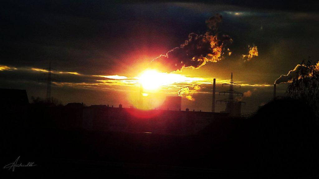 Sonnenuntergang….